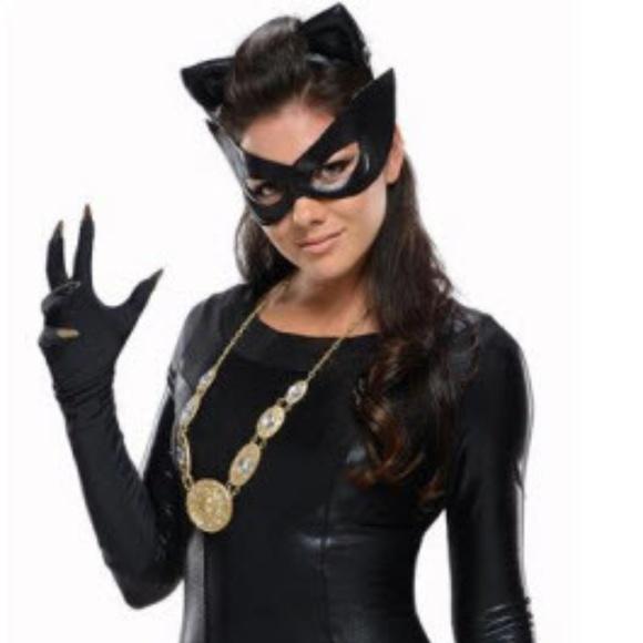 Catwoman Halloween Costume Black Cat Eye Mask Diy Nwt